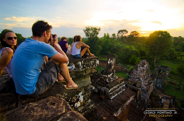Waiting for Sunset at Pre Rup temple, Siem Reap Cambodia