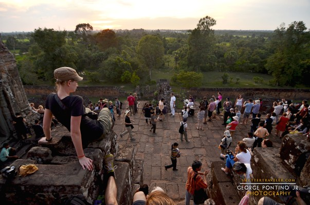 Waiting for Sunset atop Pre Rup, a pyramid temple at Siem Reap Cambodia
