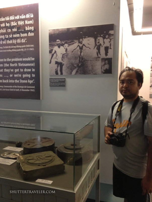Me with the Pulitzer Prize–winning photograph depicting 9-year-old Phan Thi Kim Phuc. The iconic photo taken in Trang Bang by AP photographer Nick Ut shows her running naked on a road after being severely burned on her back by a South Vietnamese napalm attack.