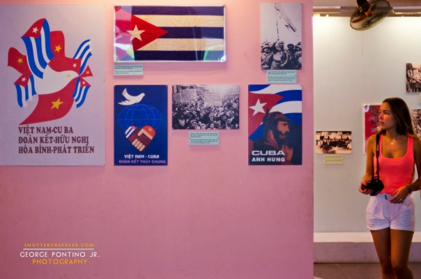 Propaganda posters at the Vietnam War Remnants in former Sai Gon (Ho Chi Minh City)
